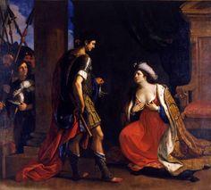 Cleopatra davanti ad Ottaviano Augusto -1640; Roma, Pinacoteca Capitolina - Guercino