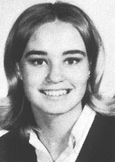 Jessica Lange in high school, 1966
