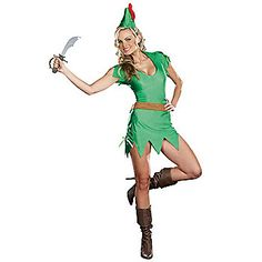 Sexy Pretty Peter Pan Costume | Sexy Fairytale Halloween Costumes