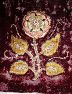 tudor relics | from the studio ~ Parrish Relics Jewelry: Tudor Rose Embroidery