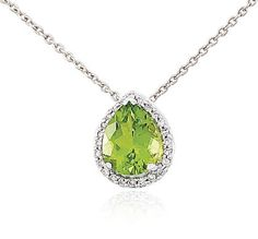 silver sm necklace theresa designs home august personalized birthstone peridot rose