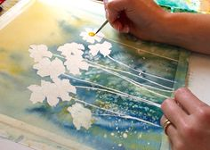 Painting Watercolor Daisy Centers
