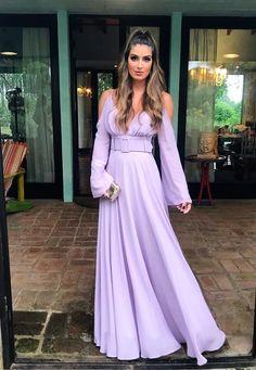 Modest Fashion, Fashion Outfits, Dress Outfits, Modest Dresses, Prom Dresses 2018, Lavender Bridesmaid Dresses, Beautiful Dresses, Pretty Dresses, Fantasy Dress