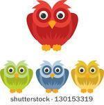 colorful owl set