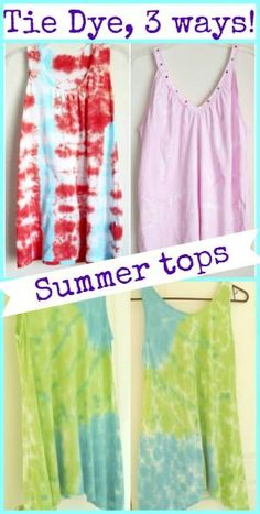 How to Tie Dye Tank Tops: 3 different ways! by mari