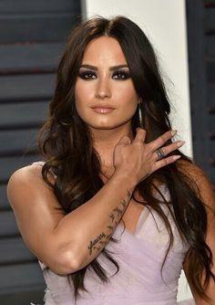 Demi Lovato at the 2017 Vanity Fair Oscar Party