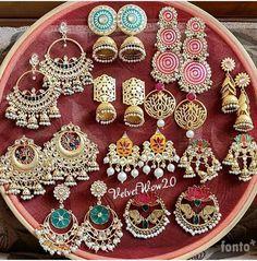Best Ideas for jewerly earrings classy beautiful Indian Jewelry Earrings, Indian Jewelry Sets, Jewelry Design Earrings, India Jewelry, Ear Jewelry, Silver Jewelry, Silver Ring, Earrings Uk, Indian Wedding Jewelry
