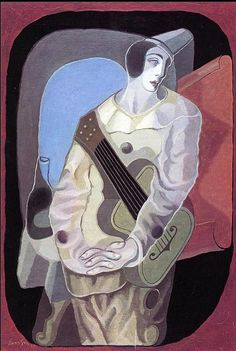 Juan Gris - Clown à la guitare. (https://fr.m.wikipedia.org/wiki/Juan_Gris)