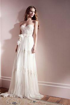 Gorgeous Lihi Hod vaporous lace wedding dress