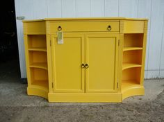 Yellow Painted Console Cabinet by juneeason on Etsy, $485.00