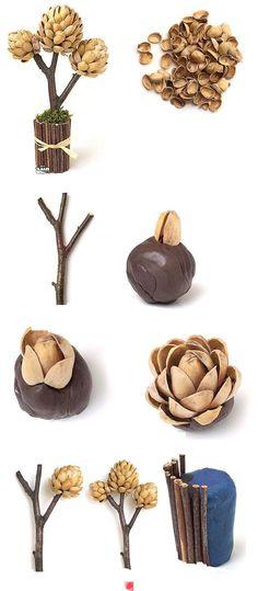 ¿que hacer con las cascaritas de los pistaches?