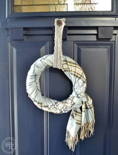 Cozy Winter Wreath with Thrift Store Finds - Refresh Living