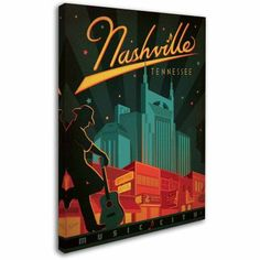 Trademark Fine Art Nashville, Tennessee Canvas Art by Anderson Design Group, Size: 24 x 32, Multicolor