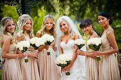 Latte Bridesmaid Dresses - Qi Dress