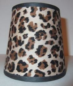 37001 - Leopard Drum Clip-On Shade - 3' Top X 4 inch Bottom X 4 inch Height