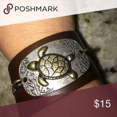 Leather turtle bracelet Custom Made Jewelry Bracelets