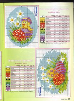 Easter Chick and Eggs Chart