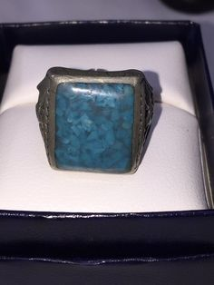 Vintage Native American Turquoise Chip Collectible Ring | Jewelry & Watches, Ethnic, Regional & Tribal, Native American | eBay!