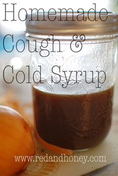 Homemade cough and cold syrup recipe