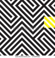 Black and white rhythmic seamless pattern - stock vector