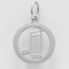 Music Charm $20 http://www.charmnjewelry.com/category/sterling_silver/Music_and_Dance_Charms.htm #CharmnJewelry
