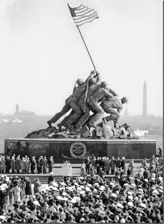 Iwo Jima Monument in Arlington. Dedication Ceremony. I didn't realize it was this HUGE.