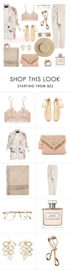 """""""Loving you"""" by alongcametwiggy ❤ liked on Polyvore featuring River Island, Cleobella, Oysho, Persol, Ralph Lauren, Loulou De La Falaise and Tweezerman"""