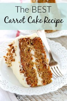 Easy Moist Carrot Cake With Cream Cheese Frosting Recipe.Moist Carrot Cake With Cream Cheese Frosting Baking From . World's Best Carrot Cake With Cream Cheese Frosting . The Best Carrot Cake Spend With Pennies. Home and Family Homemade Carrot Cake, Homemade Cake Recipes, Carrot Recipes, Simple Carrot Cake Recipe, Homemade Frosting, Homemade Snickers, Recipe For Cakes, Carrot Cake With Applesauce Recipe, Skinny Recipes