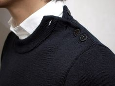 An interesting detail on an otherwise simple sweater.