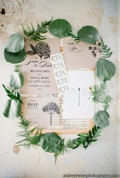Botanic Garden Wedding Invitations Printable Template Set of 4 on Etsy, $85.00