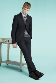 Charcoal Wool Skinny Two Piece Suit, Topman SS13 Suits http://tpmn.co/ZrRd7c