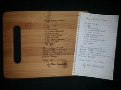 Custom engraved cutting board for Diana from 3dcarving on Etsy