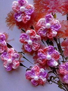 Cherry Blossoms Crochet Appliques PDF Pattern