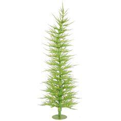 Vickerman 3Ft. Chartreuse 445 Tips Christmas Tree 50 Green Mini Lights