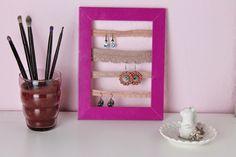 ohrringe aufbewahrung diy  DIY Display for Earrings