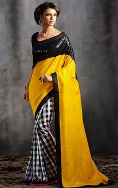 Picture of Ideal Yellow Designer Saree