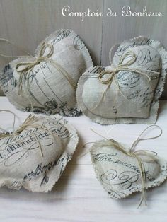 Love the rough edges on these hearts and I love the fabric. Valentine Decorations, Valentine Crafts, Valentines, Oh My Heart, Heart Art, Shabby Chic Hearts, Scented Sachets, Fabric Hearts, Shabby Fabrics