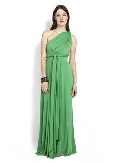 VON VONNI  Long Transformer Dress On ideeli.com...love that you can wear this several different ways.