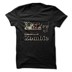 Keep Calm And Kill Zombies T-Shirts, Hoodies. BUY IT NOW ==► https://www.sunfrog.com/Zombies/Keep-Calm-And-Kill-Zombies-912p.html?41382