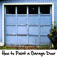 Whether your garage door needs a fresh coat of paint in the same color or you want to change the color for an updated look, painting a garage door is a beginner to intermediate level DIY project that most homeowners can complete in one day.  Whether your door is wood, steel, or aluminum, follow the steps below for painting your garage door.