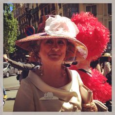 """beautiful handmade hat made by me using classical technics of millinery.  I wore this hat for the """"10ª Passejada  amb Barret"""" taking place in Barcelona"""