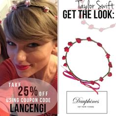 GET THE LOOK: Taylor swift Rose Headband! Perfect for spring, summer, and music festivals!