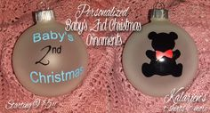 Baby's 2nd Christmas Personalized Ornaments - Starting at $5
