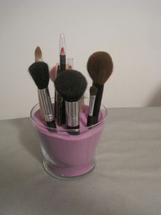 Makeup Brush Holder #howto #tutorial