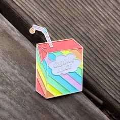 ********** Get your creative juices flowing with this Creative Juice Enamel Pin! Made from only the freshest fruits and packed with 100% of your daily juice intake, this juice is sure to enhance your creative spirit.* *Dont actually try to drink this. That would not end well.