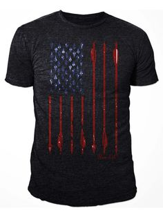 American Flag Bowhunting T-Shirt | Bow Life American Archer | Bowhunting T-shirts
