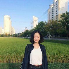 New Hair Short Korean K Fashion 54 Ideas Hairstyles Haircuts, Trendy Hairstyles, Wedding Hairstyles, Korean Girl, Asian Girl, Hwa Min, Bff Girls, Girl Korea, Uzzlang Girl