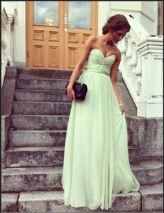 Adorable Sage Aline Sweetheart Floor Length Prom by SpcialDresses, $179.99