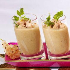 Découvrez la recette du velouté de cèpes au foie gras
