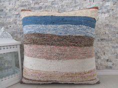 cotton kilim pillow 20x20 sofa pillow bedrrom pillow throw pillow ...